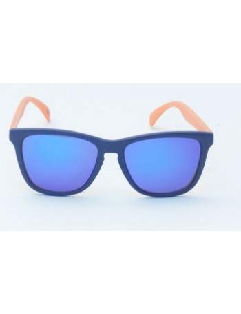 Knockaround Classic Premium Azul Marino Blue and Orange / Moonshine