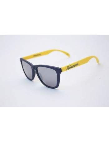Knockaround Classic Premium Azul Marino Blue and Yellow / Smoke